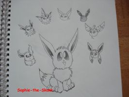 Eeveelution by Sophie-The-Skunk