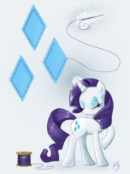 Rarity by Pearlie-pie