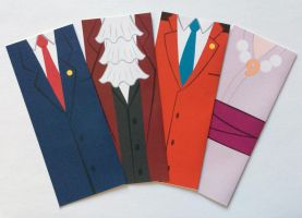 Ace Attorney Bookmarks by NelmaThyria