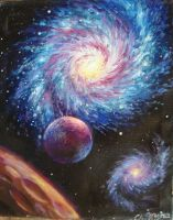 Galaxy, oil on canvas painting by CORinAZONe