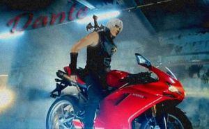 -Dante On Motorbike- by RinoaBC
