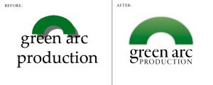 Green Arc Production Logo by h3nque