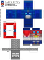 Paper Pezzy- Optimus Prime 'Minecraft' by CyberDrone
