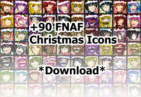 FNAF + Fan Games Christmas Icons by Wolf-con-f