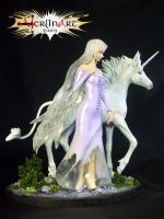 Lady Amalthea and Unicorn Diorama Scene by Sea9040