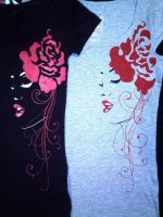 Painted t-shirt by keopsa