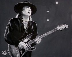 Stevie Ray Vaughan by ZomBieTOmmm