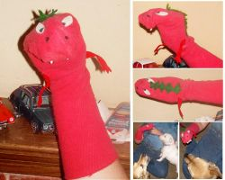 Dragon Sock Puppet by omgdragonfly