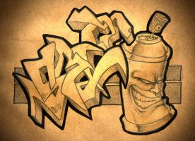 graffiti sketch by smotcha