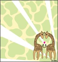 Giraffes in Love by Jessimie