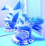 Icy Swan - 3D Origami by SophieEkard