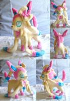 Pokemon Ninfia Sylveon Plushie by dollphinwing