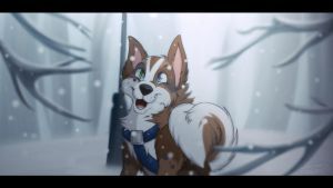 Bungee's first Winter by oOBrushstrokeOo