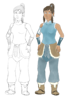 Korra Colored Sketch by Galbert