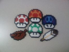 Super Mario Brothers Powerups by FatalJapan