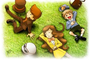 Layton, Emmy, Luke Effect by WolfgangTeam