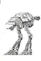 An Imperial Super Scout Walker by Peterkat