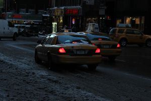 Taxis In The Slush by TheBuggynater