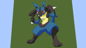 Lucario Pixels 3 by amaroq247