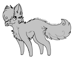 Free Cat Base (MS Paint Friendly) by ButterflyColour