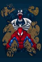 Illegal Collabo: Spidey+Venom by D3C3IT