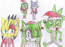 Xmas Pals: 2nd group piccy by PhoenixManX-XL