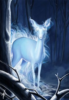 HP-DH : The Silver Doe by AnnaShoemaker