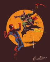 Spider-man vs Green Goblin by YannickBouchard