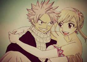 Natsu And Lucy by fairy-addict16