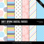 Soft Spring Digital Papers by MysticEmma