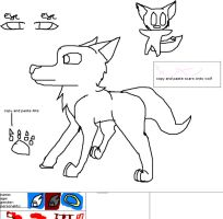Wolf reference sheet base by katmaru23