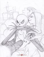 Jack Skellington and Sally by ChrisOzFulton