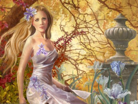Fantasy Lady Painting by Princess-Arabell