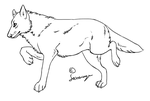 Prancing Wolf Lineart by Saceronsage