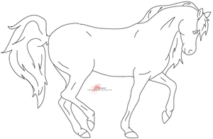 Dressage Horse Lineart by countingthehours
