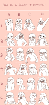 Character Expression Meme by CattyNora