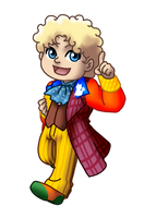 Chibi 6th Doctor v1 by TwinEnigma