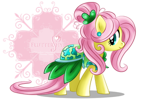 Fluttershy - Pretty dress by selinmarsou