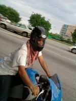 Muslim dude on bike by mayaa199313