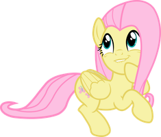 Fluttershy Mischievous Thinking  (vector) by davidsfire