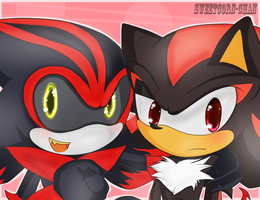 Eclipse and Shadow :3 by Sweetcorn-chan