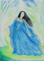 Luthien in Neldoreth by Gala-maia