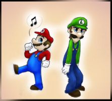 Mario and Luigi 2 by MoonRaven2