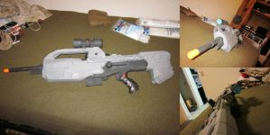 completed BR-55 from Halo by Scarlet-Impaler