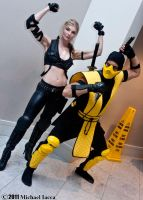 Sonya Blade and Scorpion 1 by Insane-Pencil
