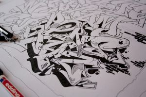Graffiti alphabet in the making by jois85