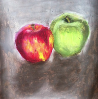 Apples still life. Oil Pastel by xitsveronikiox