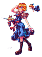 Touhou Seven Coloured Puppeteer Alice Margatroid by Nsio