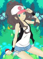 Touko Pokemon colored by Lucharsiempre