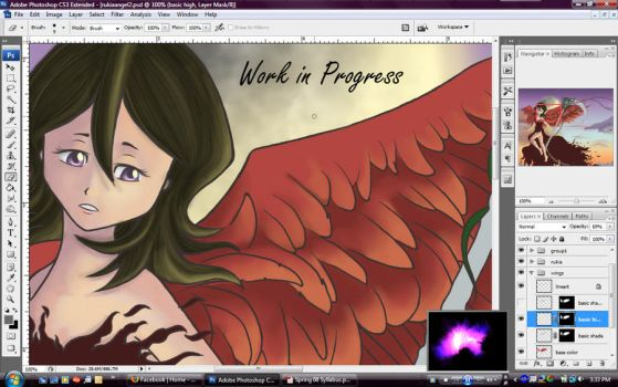 Rukia Angel W.I.P. by Maika-Isabel